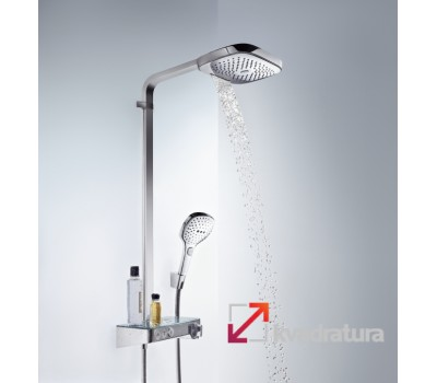 Душевая система Hansgrohe Raindance Select E 300 3jet Showerpipe 27127000 с термостатом